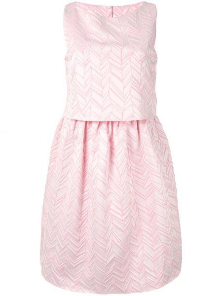 Платье мини с баской на молнии Emporio Armani