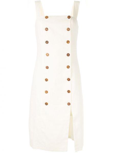 Приталенное платье миди двубортное с вырезом Venroy