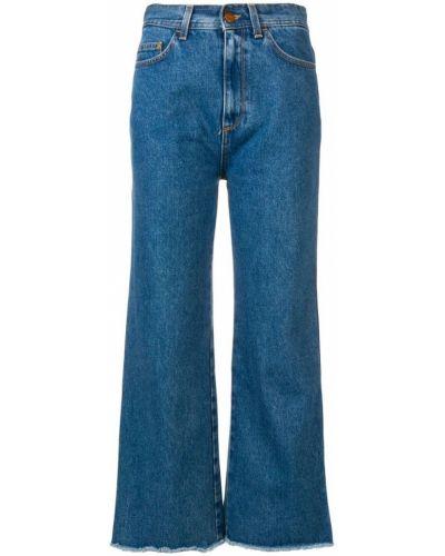Деловые укороченные джинсы на пуговицах Rodebjer