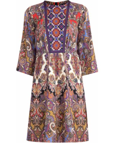 Платье из вискозы с вырезом Etro