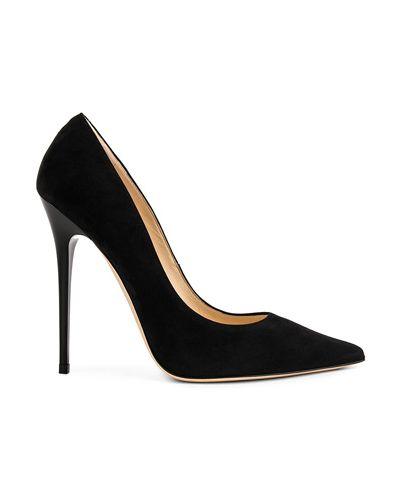 Черные замшевые туфли-лодочки на каблуке Jimmy Choo