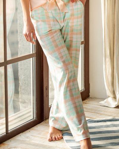 Домашние классические брюки в клетку с карманами Kleo