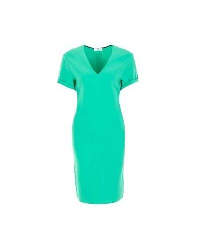 Зеленое платье для офиса Costume National