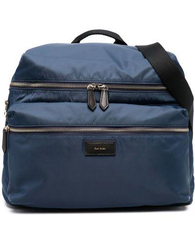 Синяя сумка на молнии на бретелях Paul Smith Junior