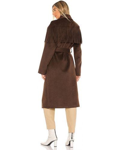 Коричневое пальто для полных с карманами House Of Harlow 1960