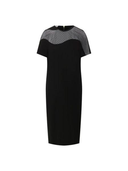 Платье в горошек с декольте Escada Sport