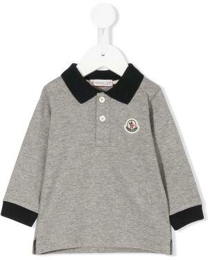 Асимметричная рубашка на пуговицах Moncler Kids