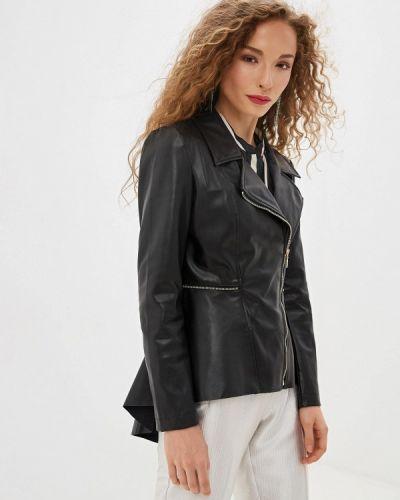 Кожаная куртка черная осенняя Rinascimento