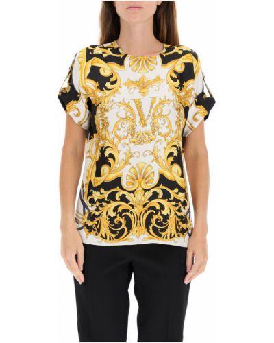 Jedwab bluzka na przyciskach Versace