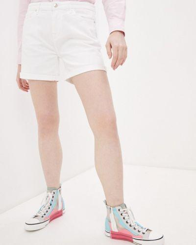 Белые джинсовые шорты 7 For All Mankind