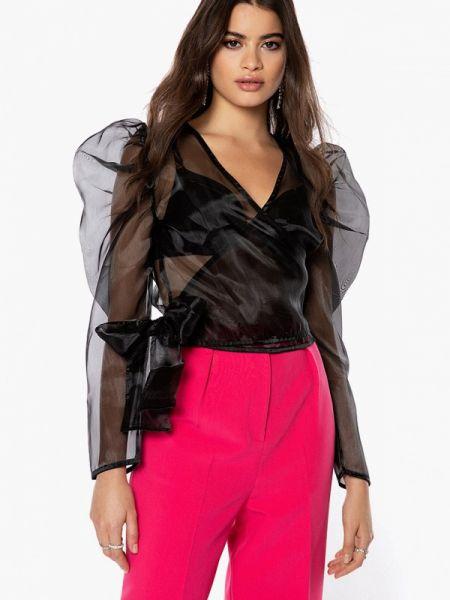 Черная блузка с длинным рукавом Ivyrevel