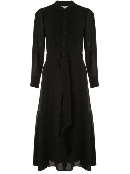 Расклешенное классическое платье макси с воротником Cefinn