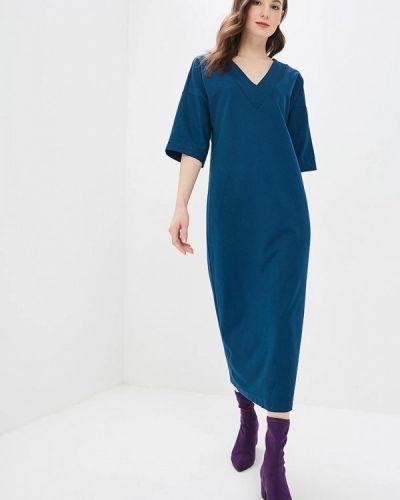 Платье осеннее синее Elena Kulikova