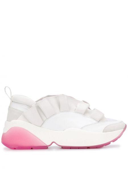 Skórzane sneakersy różowy za pełne Emilio Pucci