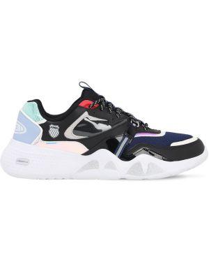 Czarne sneakersy sznurowane koronkowe Lil Jupiterr X K-swiss X Lvr