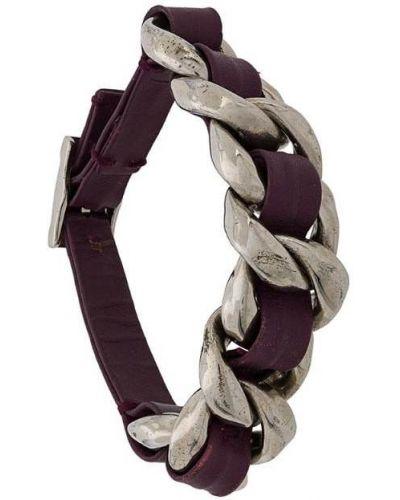 Плетеный браслет фиолетовый Chanel Vintage