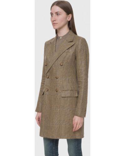Коричневое пальто Polo Ralph Lauren
