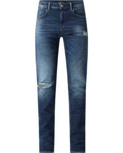Bawełna bawełna niebieski jeansy chłopaki z zamkiem błyskawicznym Replay