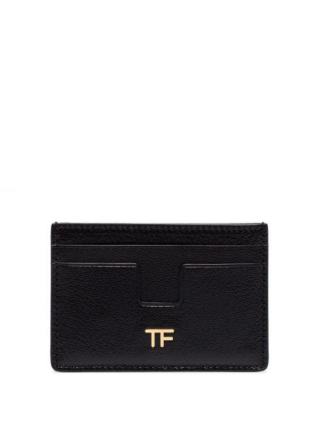 Кожаный черный кошелек Tom Ford