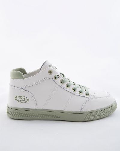 Бежевые кожаные ботинки Sidestep