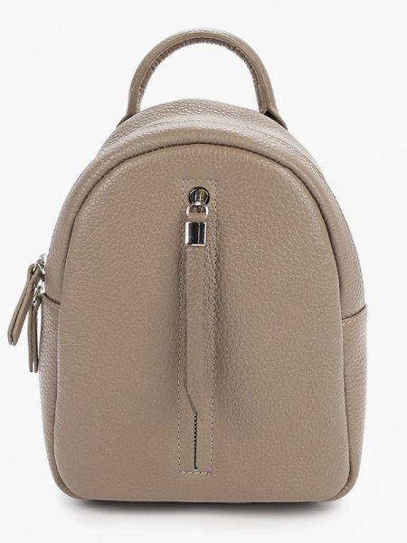 Городской бежевый рюкзак из натуральной кожи Franchesco Mariscotti