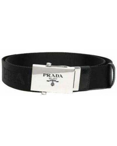Czarny pasek z paskiem Prada