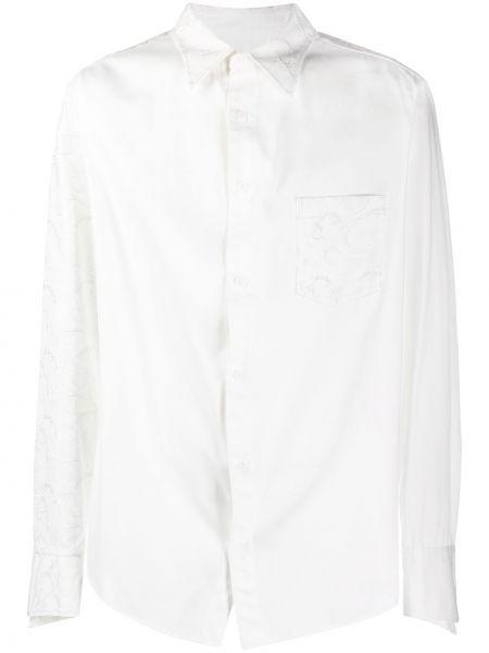 Klasyczna koszula bawełniana z haftem z długimi rękawami Sulvam