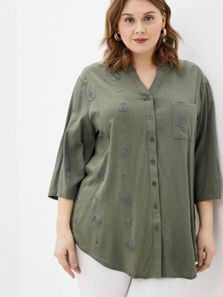 Блузка с длинным рукавом зеленый весенний Dlys