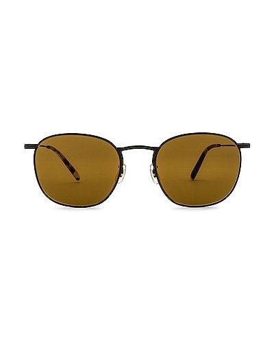 Солнцезащитные очки винтажные - черные Oliver Peoples