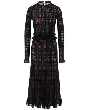 Платье мини миди из вискозы Alexander Mcqueen