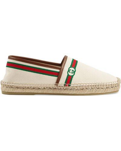 Espadryle - białe Gucci