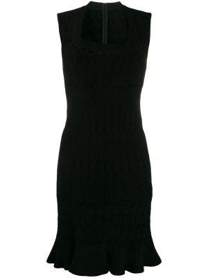 Черное платье мини винтажное без рукавов с вырезом Alaïa Pre-owned