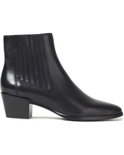 Czarne ankle boots skorzane na obcasie Rag & Bone