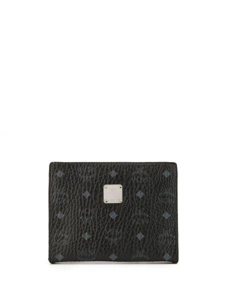 Czarny portfel Mcm