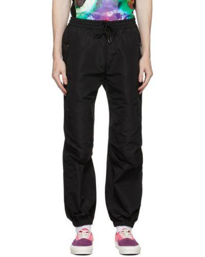 Satynowe czarne spodnie Landlord