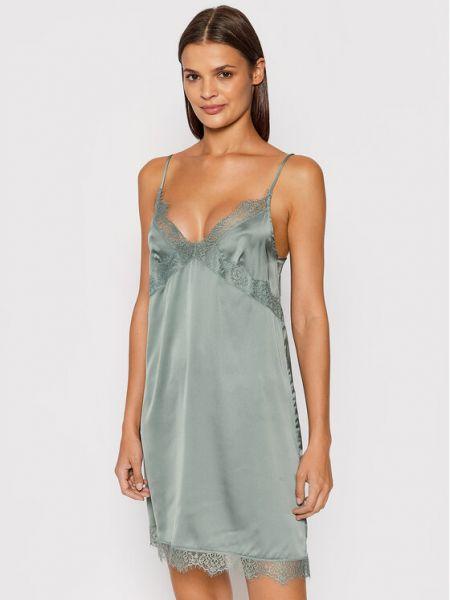 Satynowa piżama - zielona Simone Perele