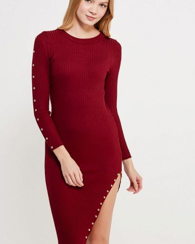 Платье бордовый красный Sk-house