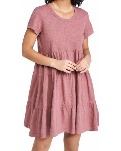 Ватное трикотажное платье с короткими рукавами Wilt