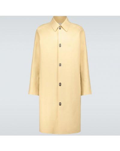 Beżowy płaszcz przeciwdeszczowy bawełniany Bottega Veneta