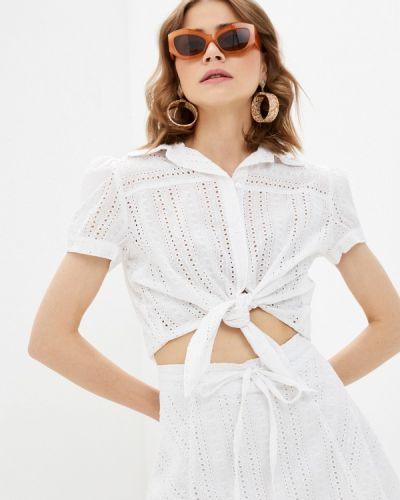 Белая блузка с короткими рукавами Rinascimento