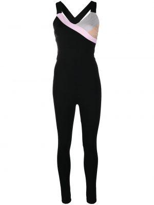 Облегающий нейлоновый черный спортивный комбинезон No Ka 'oi