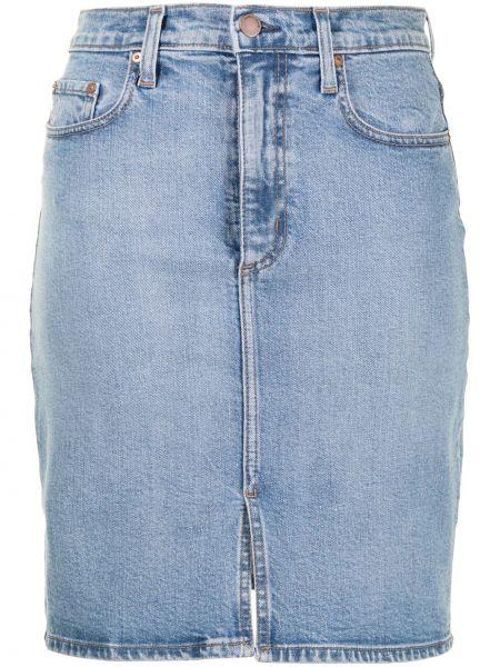 Синяя джинсовая юбка на пуговицах с разрезом Nobody Denim