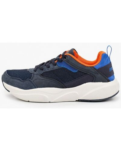 Синие кожаные кроссовки Patrol