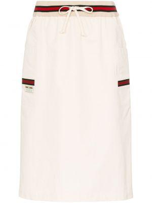 Spódnica ołówkowa bawełniana - biała Gucci