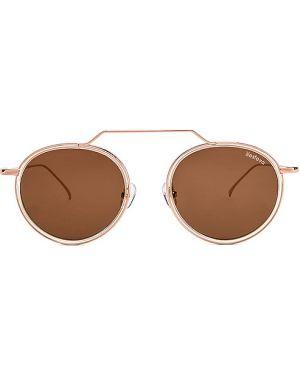 Brązowe złote okulary Illesteva