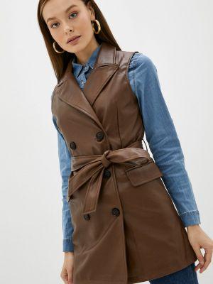 Кожаное платье - коричневое Softy