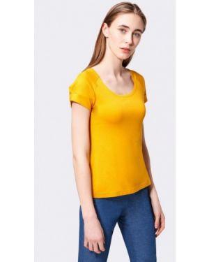 Желтая футбольная футболка Cat Orange