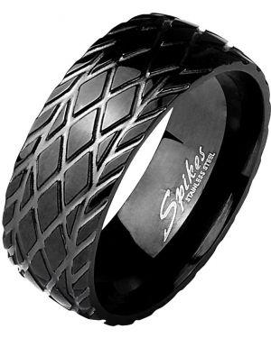 С орнаментом кольцо - черное Spikes