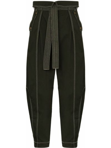 Spodni bawełna zielony bawełna spodnie Ulla Johnson