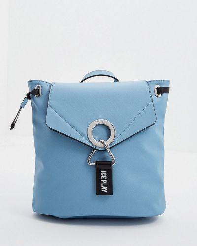 Рюкзак голубой из искусственной кожи Ice Play
